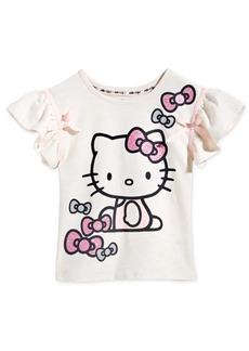 Hello Kitty Little Girls Ribbon-Trim T-Shirt