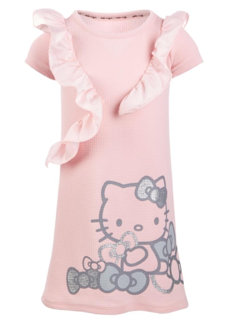 Hello Kitty Little Girls Ruffle-Trim Graphic-Print Dress