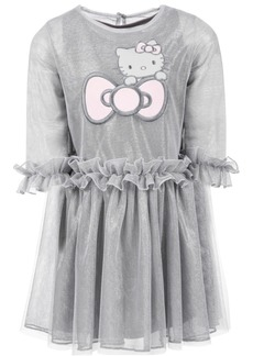 Hello Kitty Little Girls Ruffle-Trim Mesh Dress