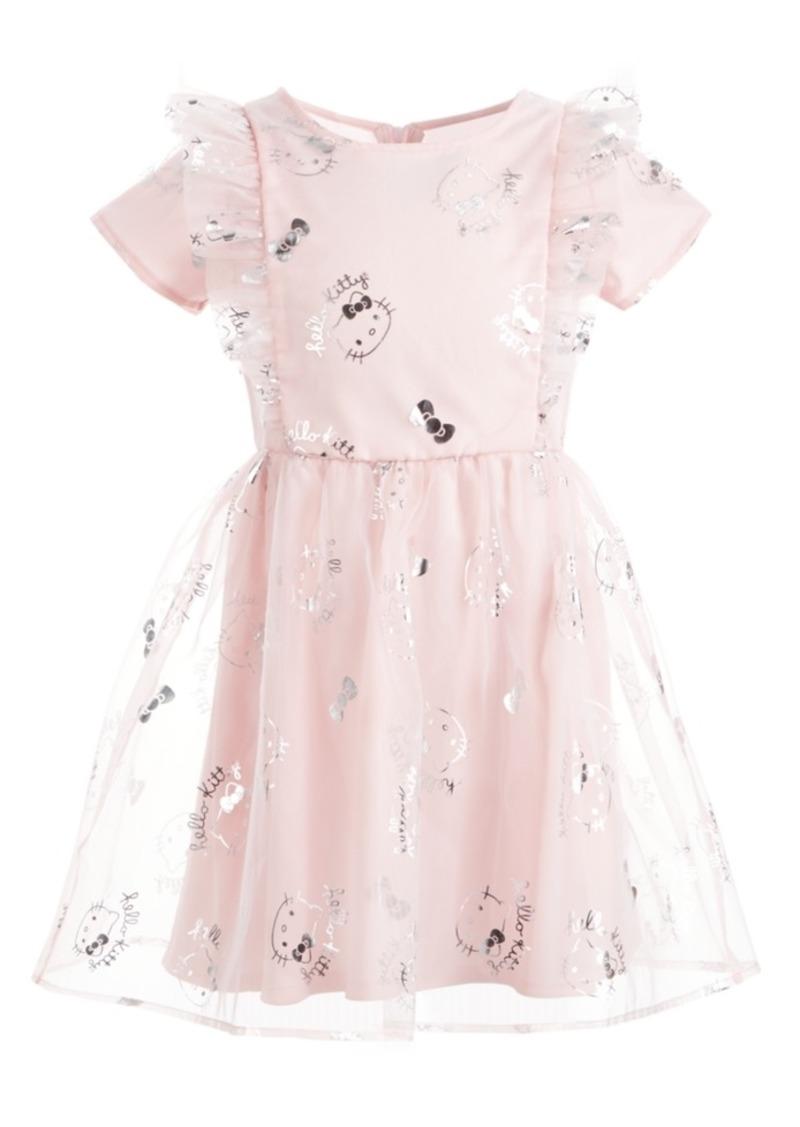 Hello Kitty Toddler Girls Ruffled Mesh Dress