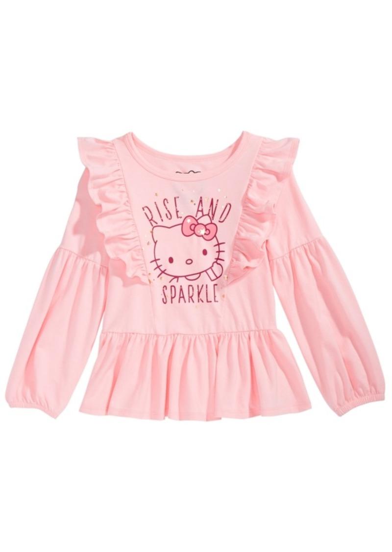 Hello Kitty Toddler Girls Ruffle-Trim Printed T-shirt