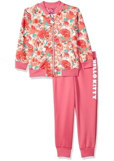 Hello Kitty Little Girls' Scuba Knit Bomber Jacket Pant Set