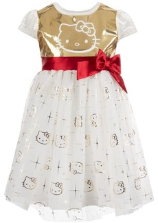 Hello Kitty Toddler Girls Sequin Velvet Dress