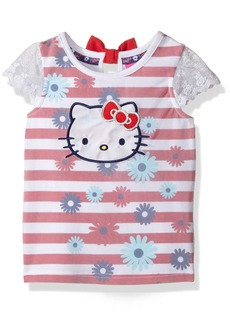 Hello Kitty Girls' Little Striped Sleeveless Top