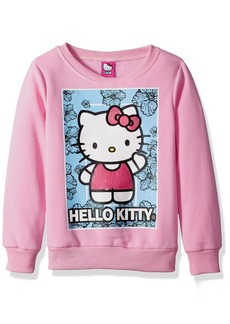 Hello Kitty Little Girls' Sweatshirt with Sequins and Lace Details