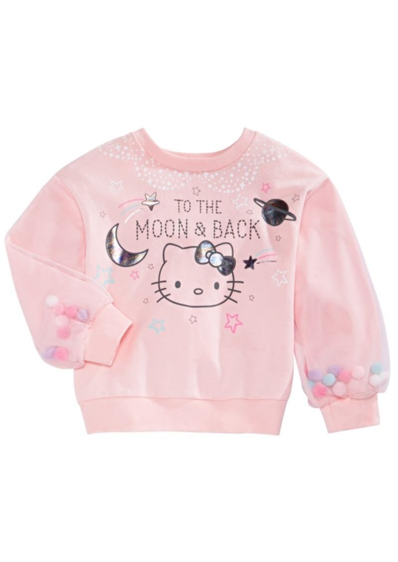 Hello Kitty Little Girls To The Moon & Back Pom Pom Sweatshirt
