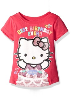 Hello Kitty Little Girls' Toddler Happy Birthday T-Shirt