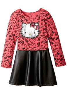 Hello Kitty Little Girls' Toddler Long Sleeve Dress