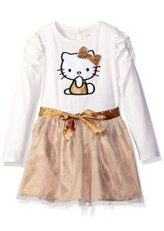 Hello Kitty Little Girls' Tutu Dress with Sequins and Satin