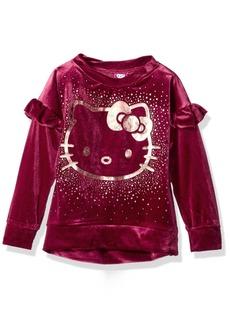Hello Kitty Little Girls' Velvet Sweatshirt With Foil Artwork