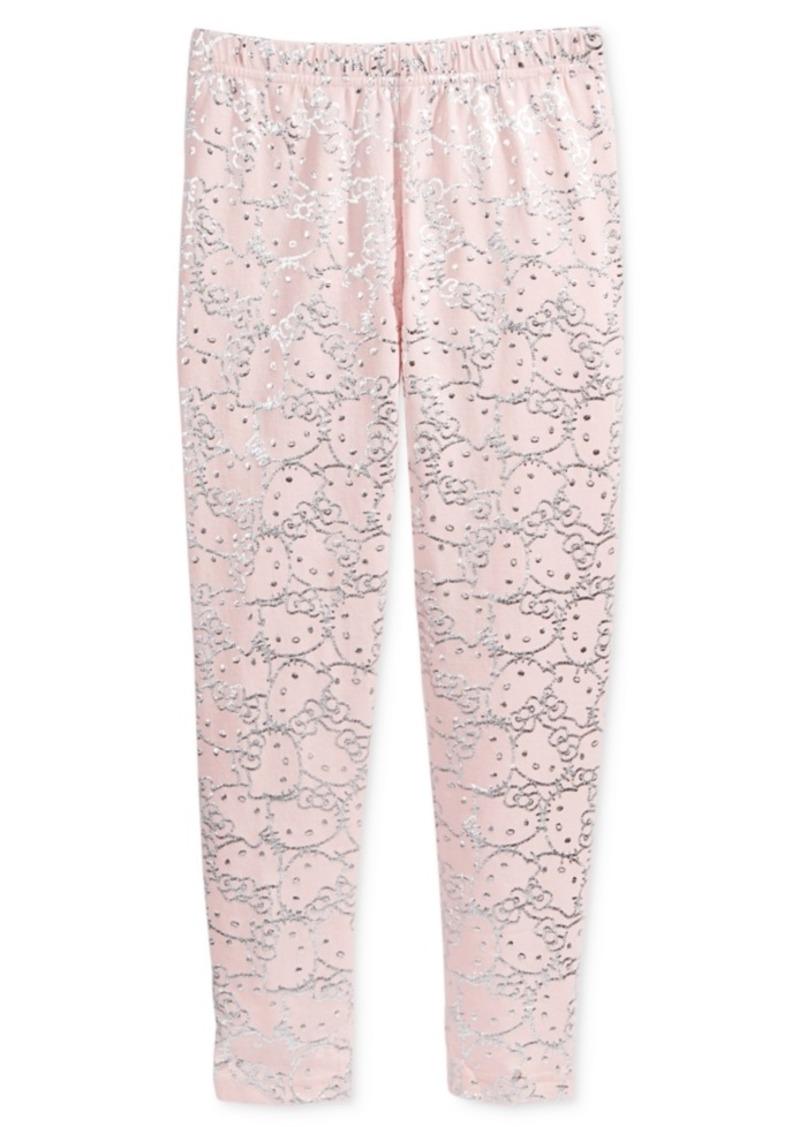 a387a376d Hello Kitty Hello Kitty Metallic-Print Leggings, Little Girls Now $2.93
