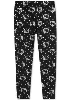 Hello Kitty Metallic-Print Leggings, Little Girls