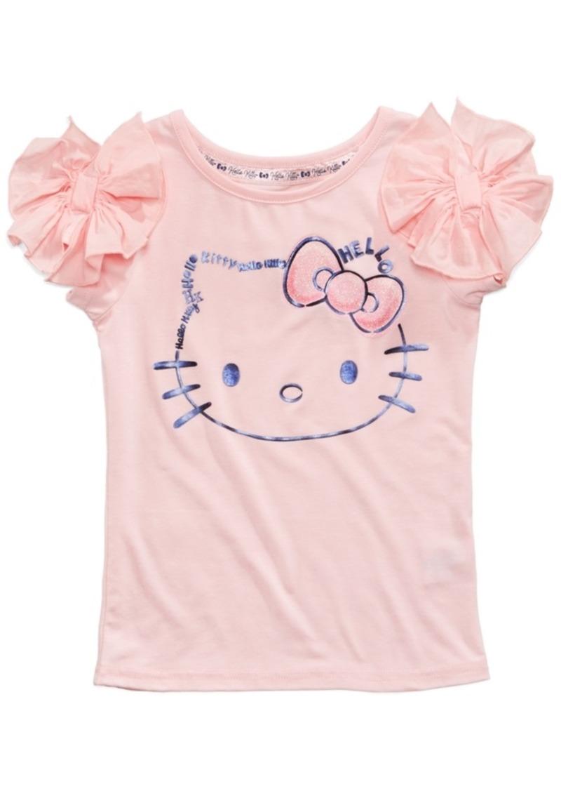 84dece3f SALE! Hello Kitty Hello Kitty Rogue-Bow Kitty-Face T-Shirt, Little Girls