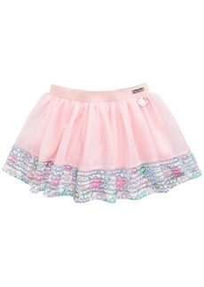 Hello Kitty Shadow-Stripe Border Tutu Skirt, Little Girls