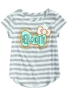 Hello Kitty Toddler Girls Striped Bow-Print T-Shirt
