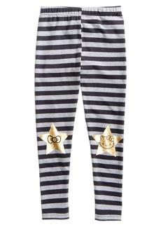 Hello Kitty Striped Knee Art Leggings, Little Girls