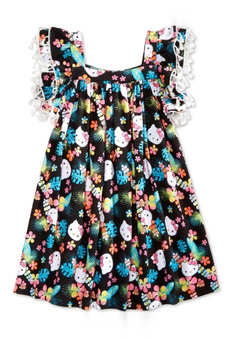 Hello Kitty Tassel-Trim Dress, Little Girls