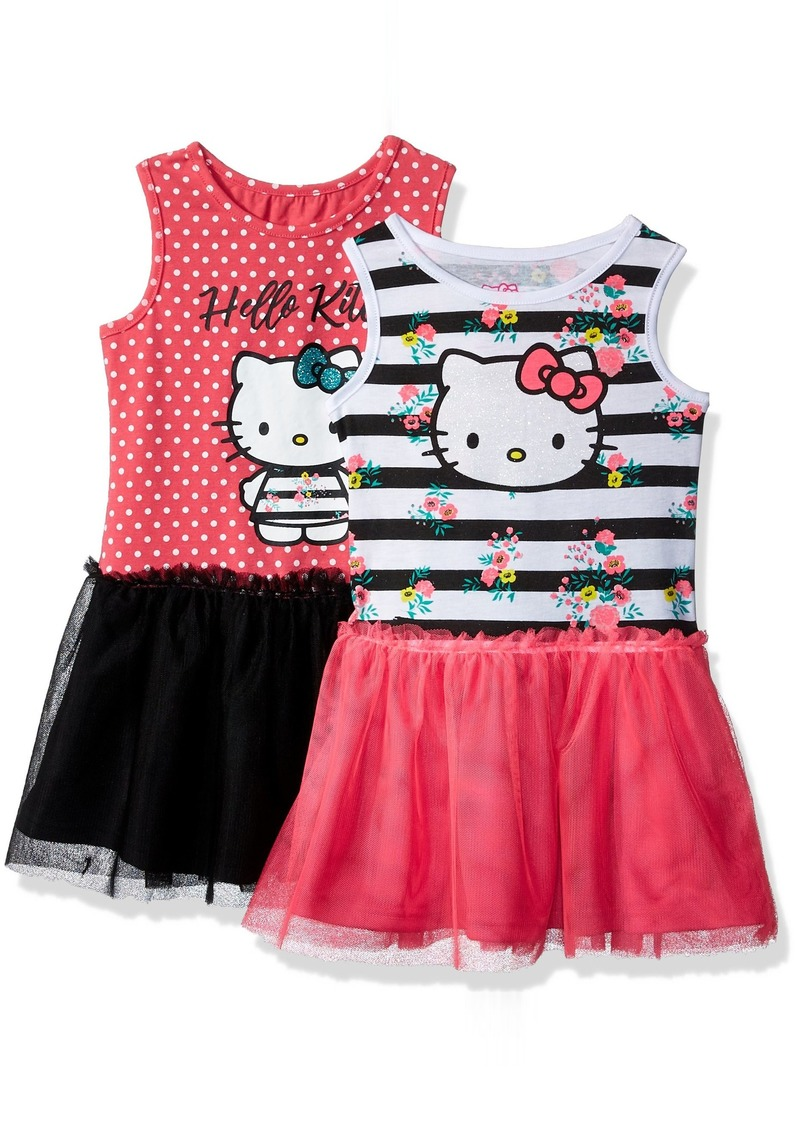 Hello Kitty Toddler Girls' 2 Pack Embellished Tutu Dresses