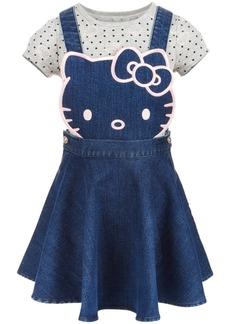Hello Kitty Little Girls 2-Pc. Denim Skirtall & T-Shirt Set