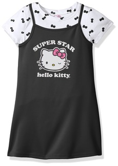 Hello Kitty Toddler Girls' 2 Piece Dress Set With Printed Tee