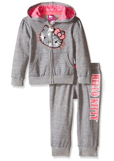 Hello Kitty Little Girls' Toddler 2 Piece Hoodie and Pant Set