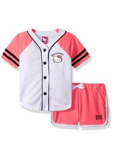 Hello Kitty Toddler Girls' Baseball Themed Mesh Short Set