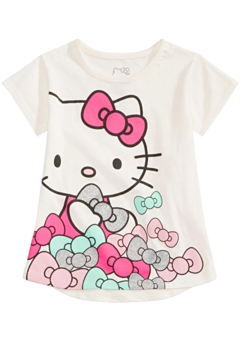 Hello Kitty Little Girls Bows-Print T-Shirt