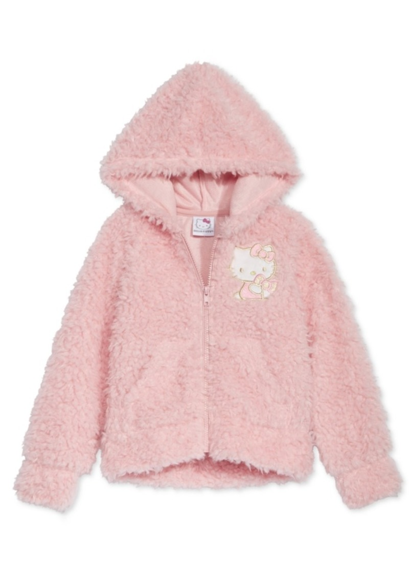 c12ef1290 Hello Kitty Hello Kitty Little Girls Zip-Up Faux-Fur Hoodie | Outerwear