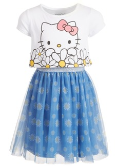 Hello Kitty Toddler Girls Oversized Daisy Layered-Look Dress