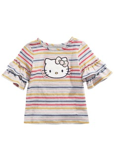 Hello Kitty Toddler Girls Ruffle-Sleeve Striped Top