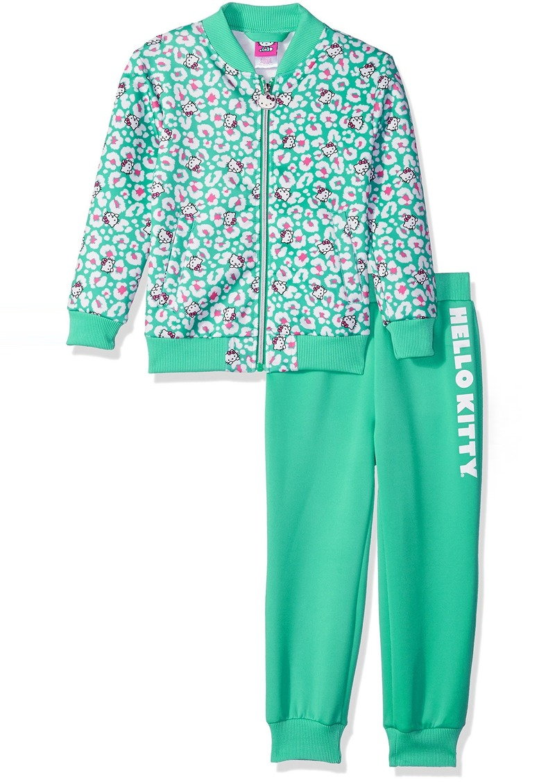 Hello Kitty Toddler Girls' Scuba Knit Bomber Jacket Pant Set