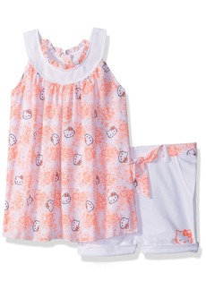 Hello Kitty Toddler Girls' Short Set with Embellished Fashion Top