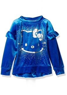 Hello Kitty Girls' Toddler Velvet Sweatshirt with Foil Artwork