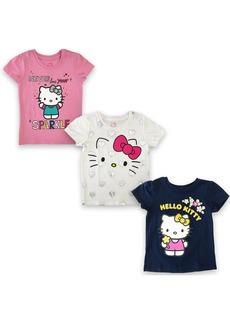 Sanrio- Hello Kitty Girls Short Sleeve T-shirt (Pack of 3)