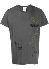 Helmut Lang abstract print logo T-shirt