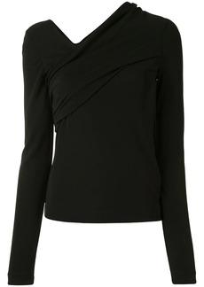 Helmut Lang asymmetric neck blouse