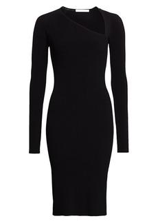Helmut Lang Asymmetric-Neckline Knit Dress