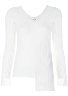 Helmut Lang asymmetric ribbed sweater