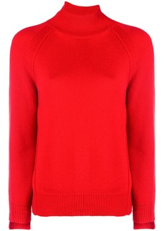 Helmut Lang asymmetric turtleneck sweater