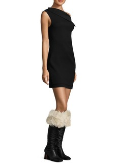 Helmut Lang Asymmetric Wool Mini Dress