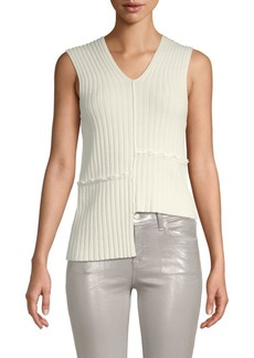 Helmut Lang Asymmetrical Knit Tank Top