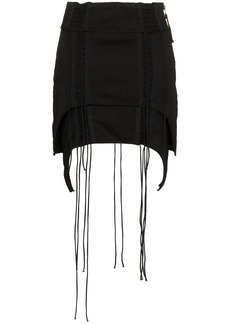 Helmut Lang Aviator Asymmetric Mini-Skirt