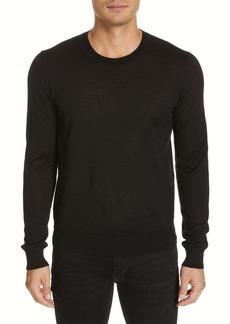 Helmut Lang Back Logo Wool & Silk Sweatshirt