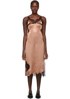Helmut Lang Beige Lace Slip Dress