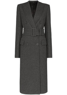 Helmut Lang belted double-breasted coat
