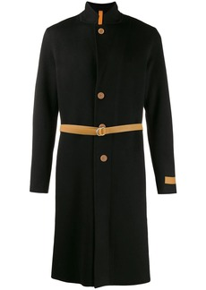 Helmut Lang belted single-breasted coat