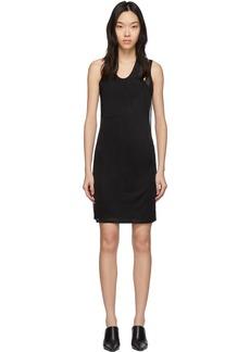Helmut Lang Black Asymmetric Tank Dress