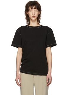 Helmut Lang Black Contrast Stitch Detail T-Shirt