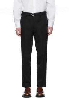 Helmut Lang Black Cropped Slim-Fit Trousers