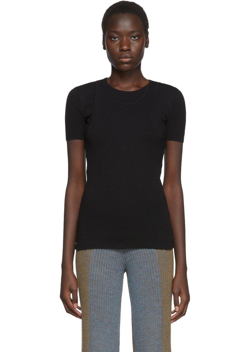 Helmut Lang Black Double Layer T-Shirt